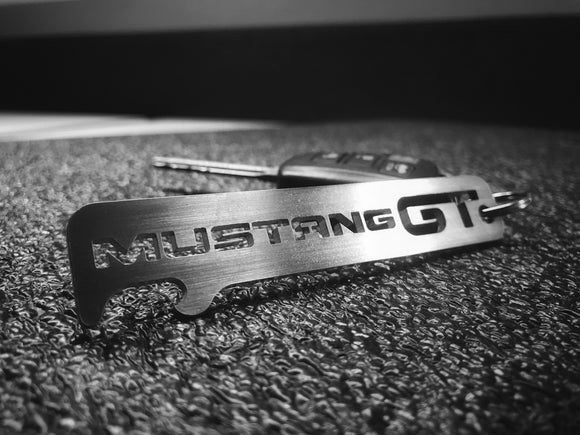 Mustang GT - Stainless Steel Keychain Bottle Opener