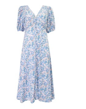 Teacher's Pet Blue floral dress by Sunny Girl