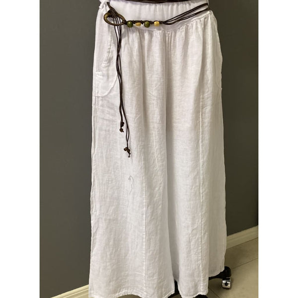 Amalfi Linen Pants & belt - Fig and Fi