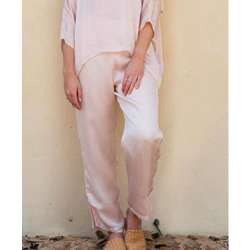 Anannasa Aly Silk LIned Pants - Fig and Fi
