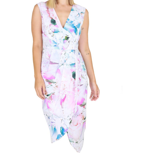 Floral cross over dress - Fig and Fi
