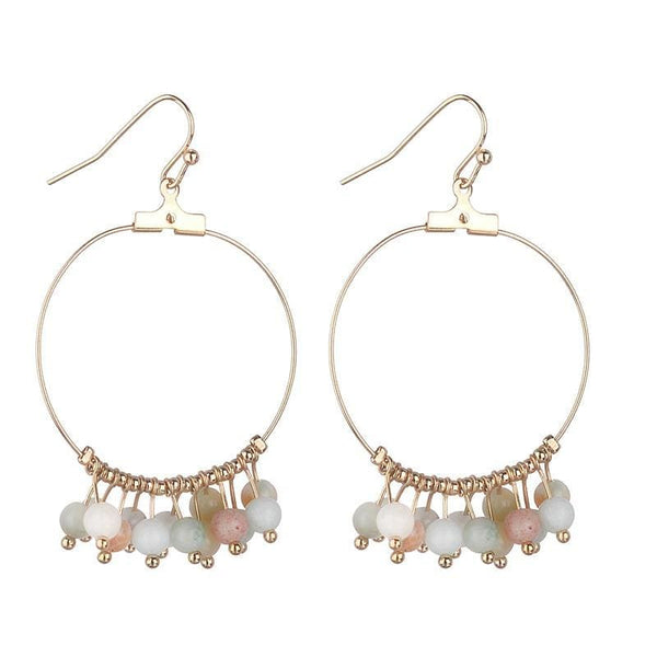 Marnie Semi Precious Amazonite Earrings - Fig and Fi