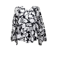 Monochrome floral top - Fig and Fi