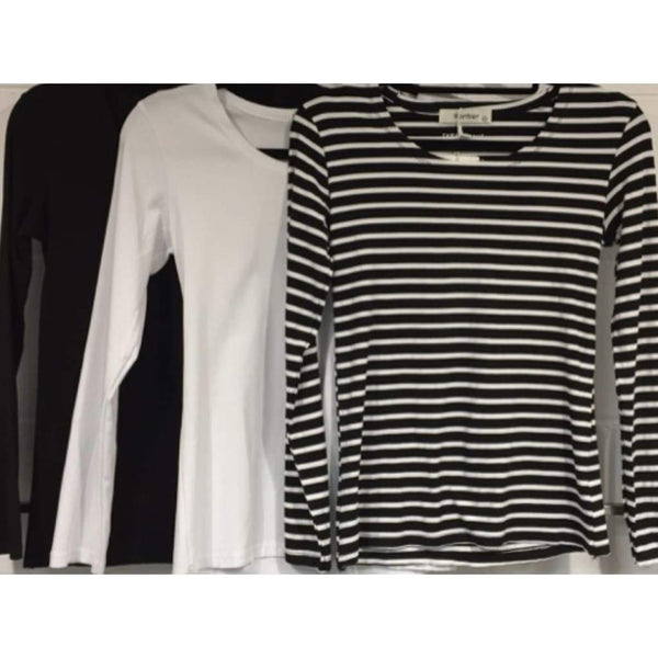 Monochrome Long Sleeve Top - Fig and Fi