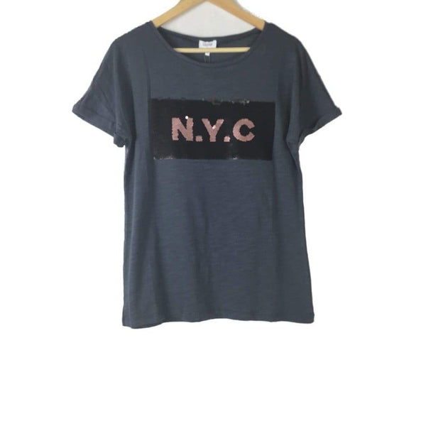 NYC Sequin Tee - Fig and Fi