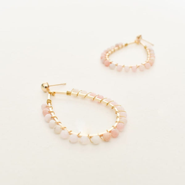 Peachy Opal Earrings - Fig and Fi