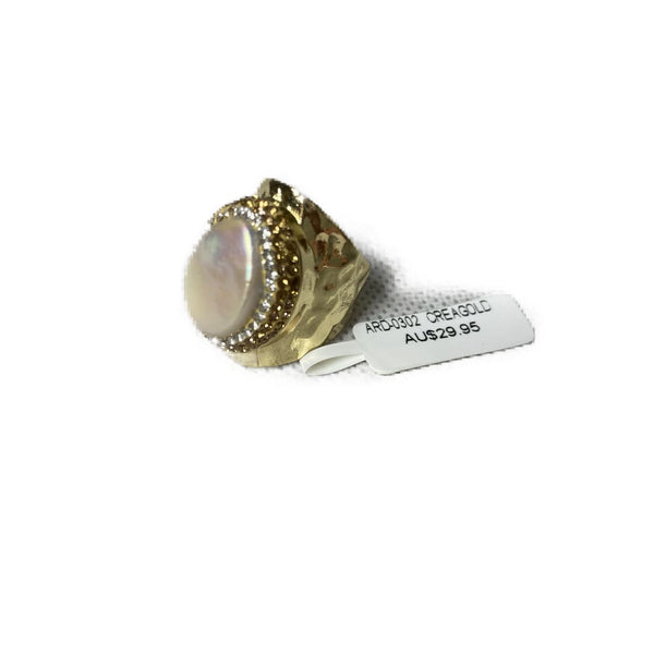 Pearl Diamonte Dress Ring - Fig and Fi