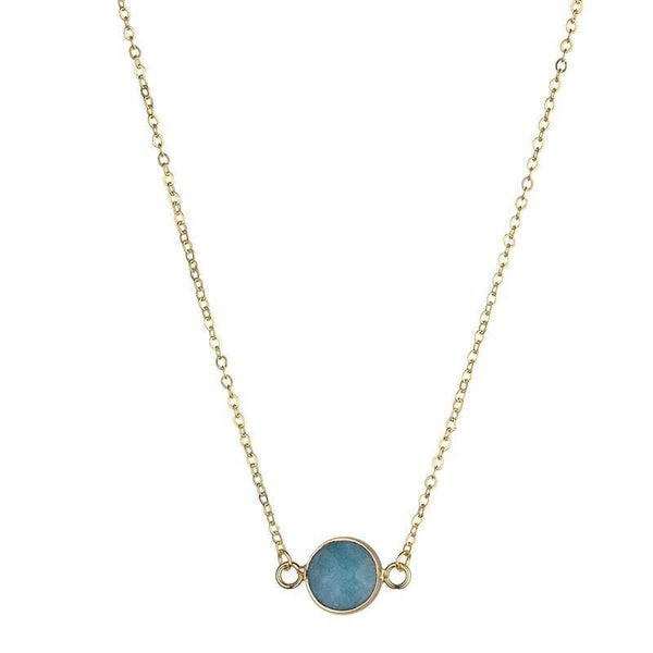 Sally Natural Stone Necklace - Green - Fig and Fi