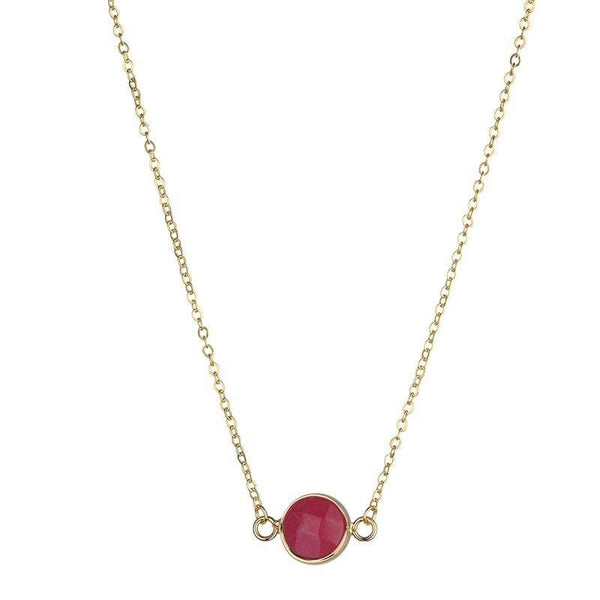 Sally Red Stone Necklace - Fig and Fi