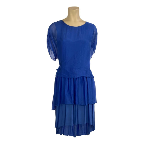 Sapphire 3 layer silk dress - Fig and Fi