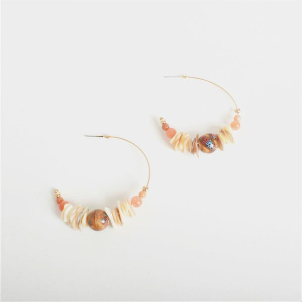 Stone Bead Hoops - Fig and Fi