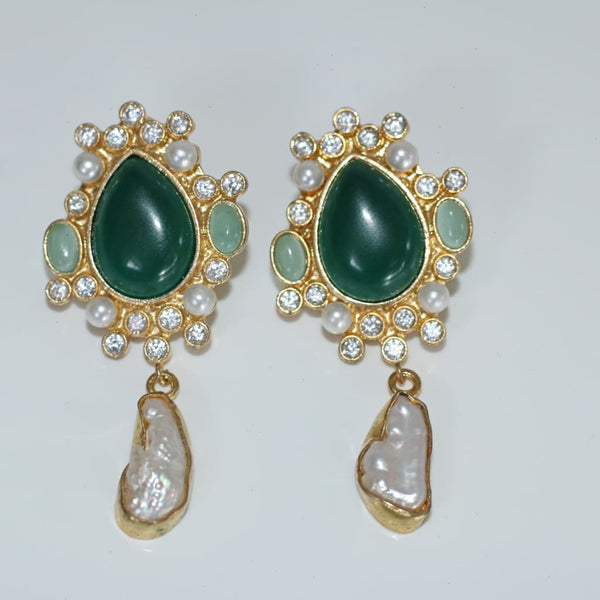 Victorian gemstone and pearl earring - Fig and Fi