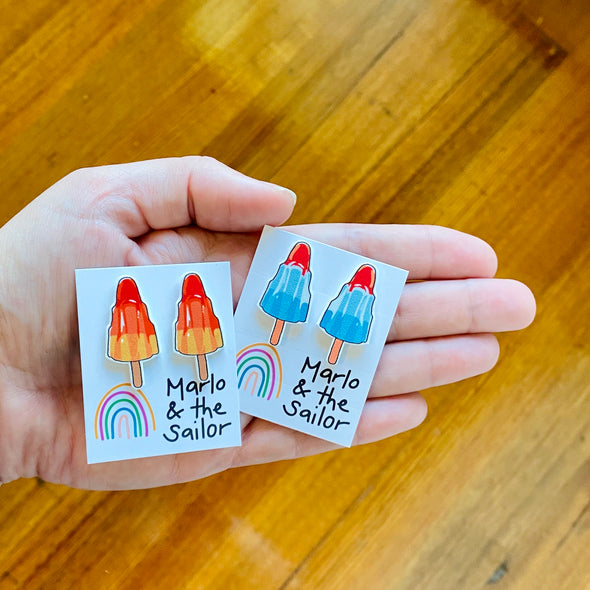 Rocket Ice Cream studs! - BLUE