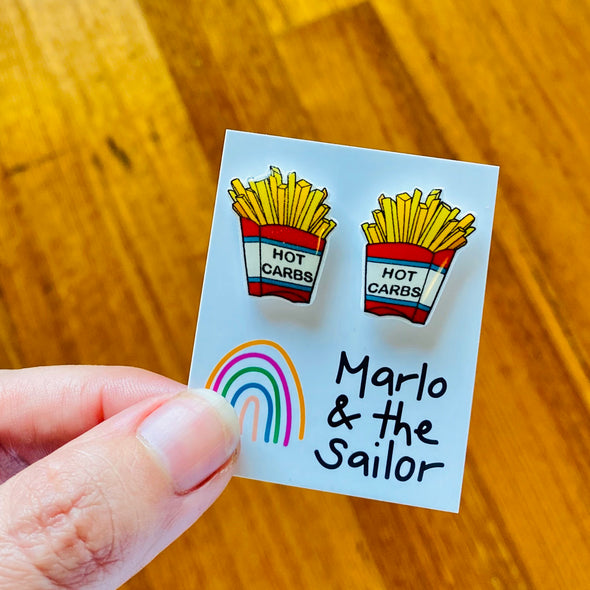Carbs - Hot Chips studs