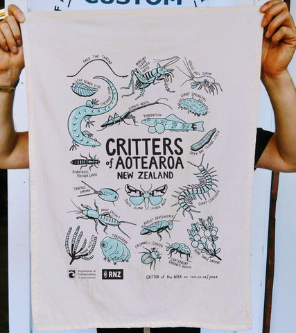 TEA TOWEL - CRITTER OF THE WEEK