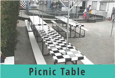Go Kart World Party Picnic Table