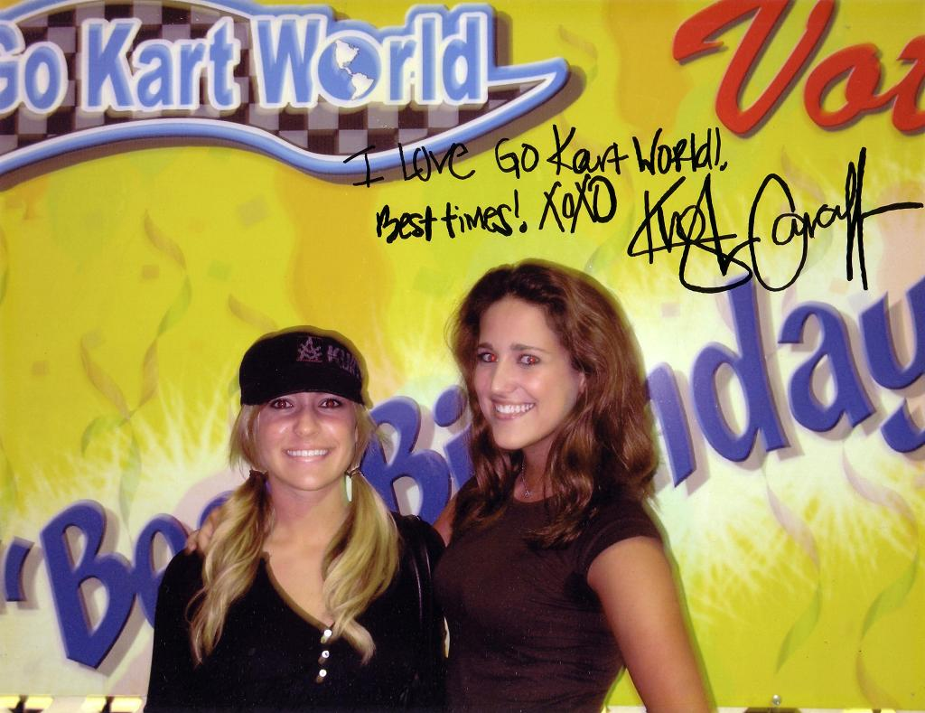 Celebrity Visiting Go Kart World Picture