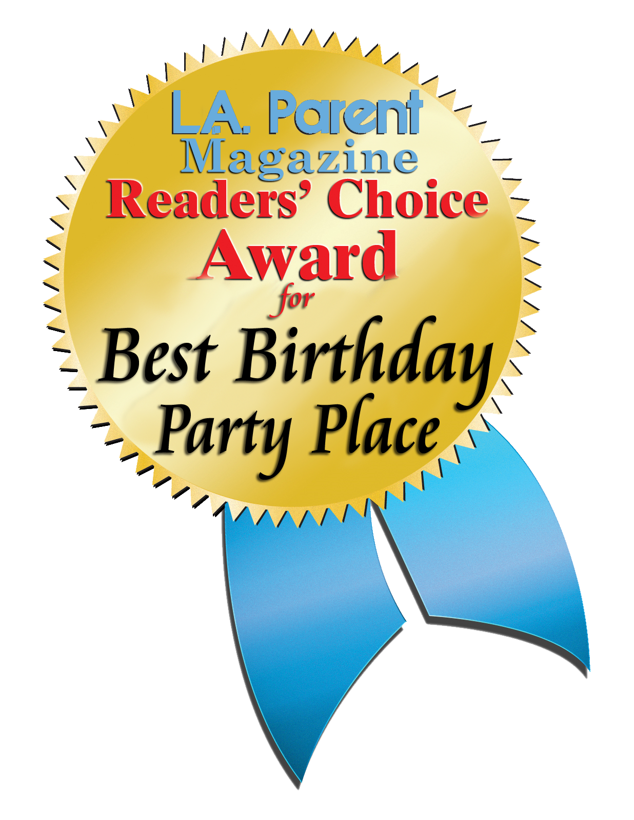 Go Kart World LA Parent Reader's Choice Award for Best Birthday Party Place.