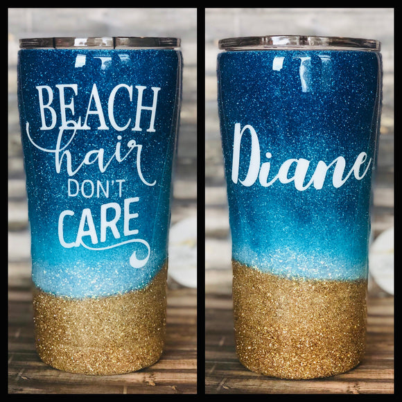 Beach Collection Glitter Tumbler