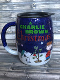 Peanuts Charlie Brown Christmas Glitter Tumbler