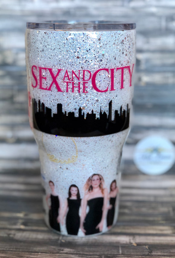 Sex and the City Glitter Tumbler