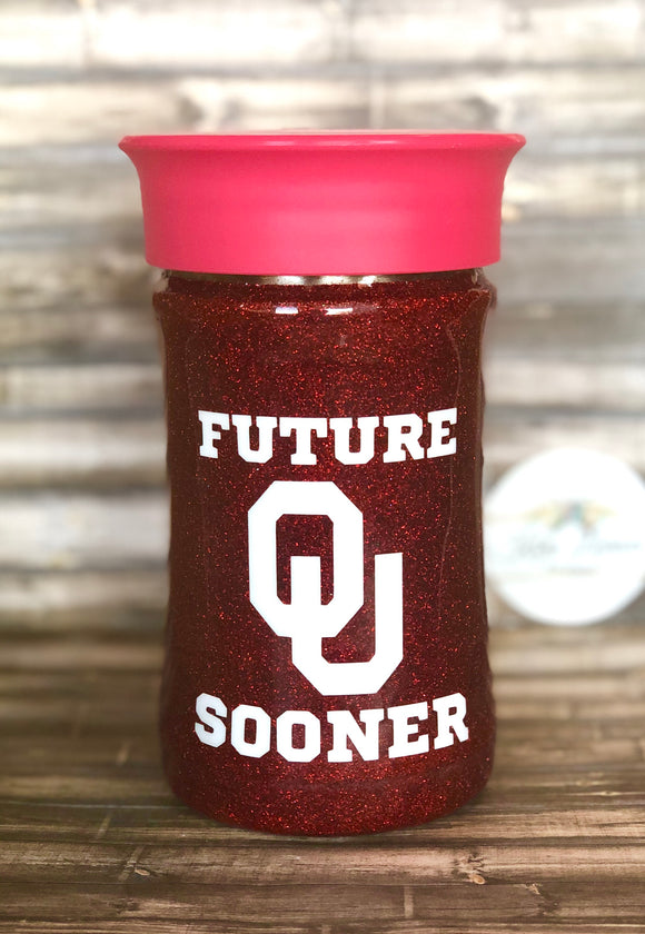 CLEARANCE! READY TO SHIP- Future Sooner Sippy Cup