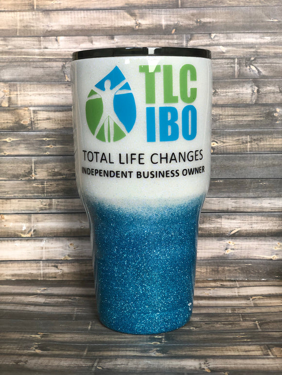 TLC Total Life Changes Glitter Tumbler