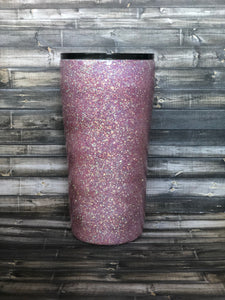 """Loss for words"" Glitter Tumbler"