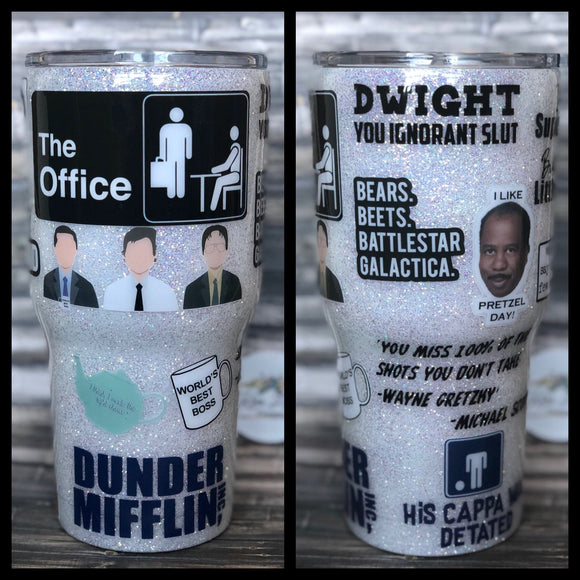 The Office Glitter Tumbler