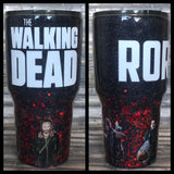 The Walking Dead Glitter Tumbler