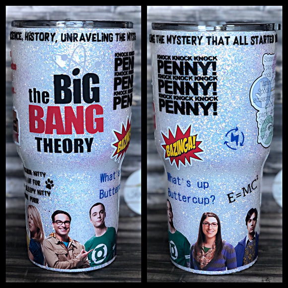 The Big Bang Theory Glitter Tumbler