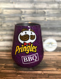CLEARANCE! READY TO SHIP- Pringles BBQ Stemless Wine Glass