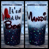 Minnie Mouse 'It's All About The Bow' Glitter Tumbler