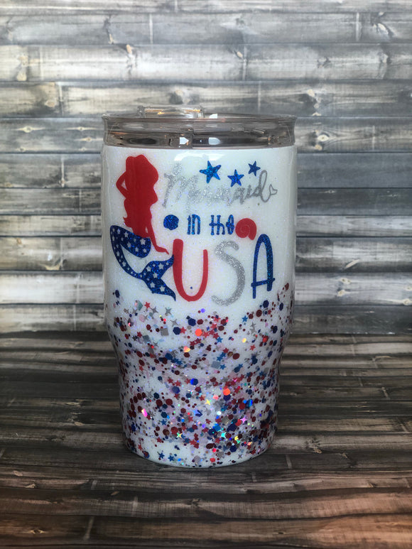 Mermaid in the USA CHUNKY Glitter Tumbler