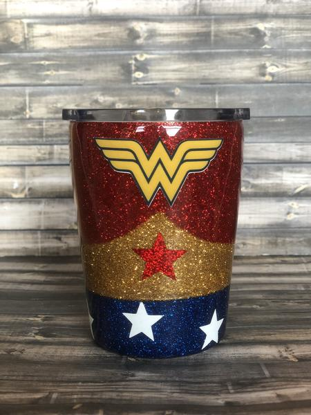 Wonder Woman Glitter Tumbler KIDS CUP!