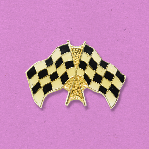 Drag Race Vintage Style Pin