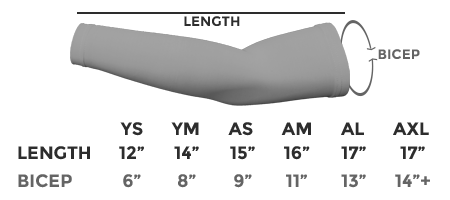 Arm Sleeve Size Chart