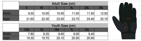 Custom Baseball Batting Gloves Sizing Chart Photo