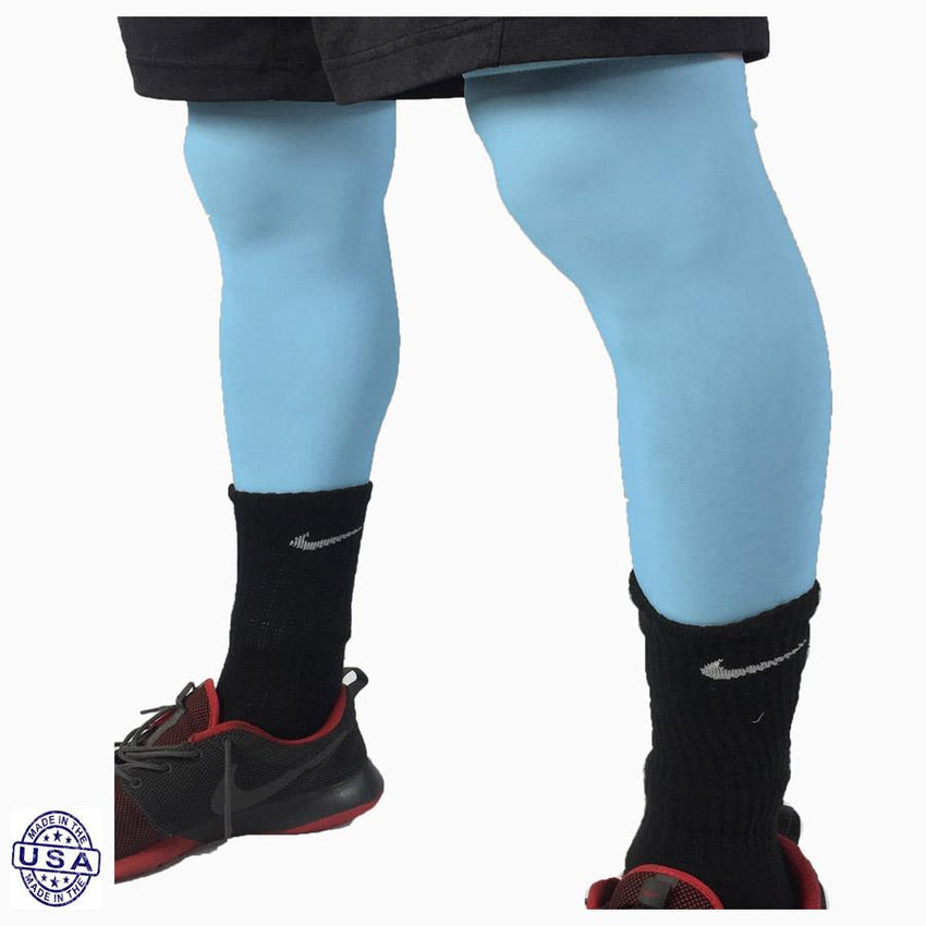 Pair of Baby Blue Basketball Leg Sleeves