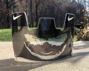 Black Chrome Joker Custom Football Visor