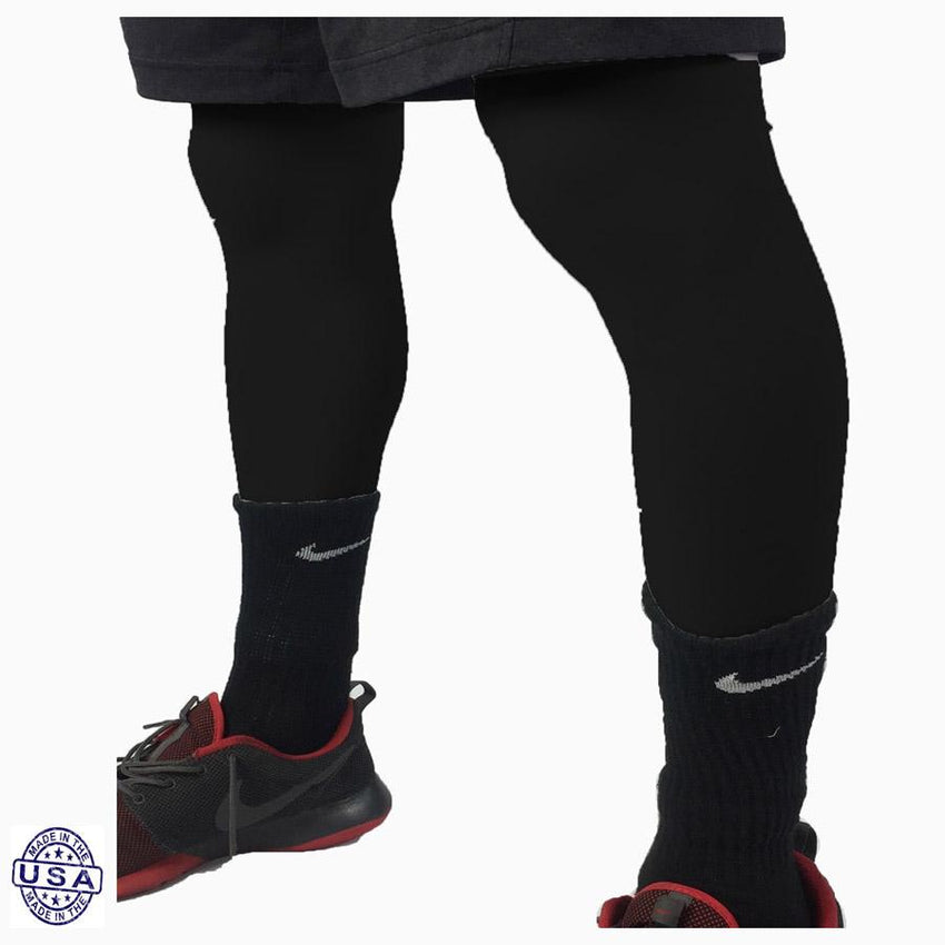 Pair of Black Basketball Leg Sleeves