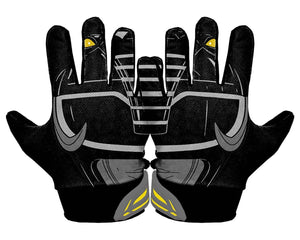 Thumbnail Back Hands Black Power Ranger Football Glove