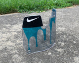 Blue Clear Drip Custom Football Visor