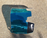 Blue Chrome Pressure Custom Football Visor