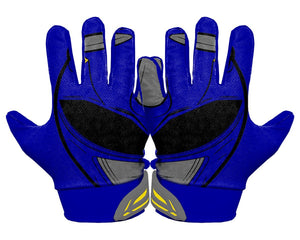 Thumbnail Back Hands Blue Power Ranger Football Glove