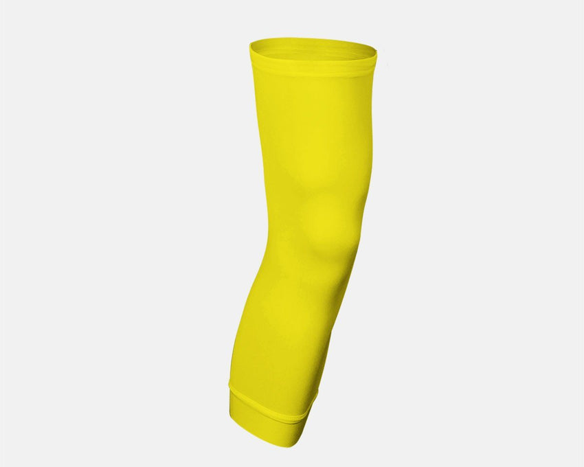 Bright Yellow Single Basketball Compression Leg Sleeve