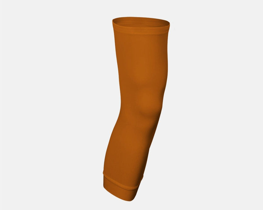 Burnt Orange Single Basketball Compression Leg Sleeve