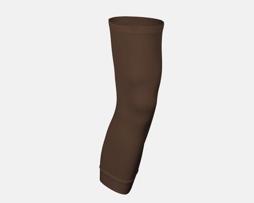 Chocolate Brown Single Basketball Compression Leg Sleeve