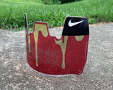 Clear Red Drip Custom Football Visor