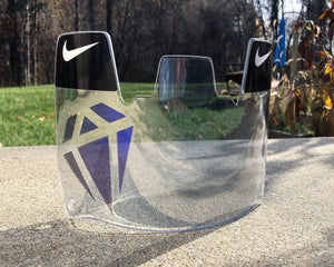 Clear Purple Pressure Custom Football Visor